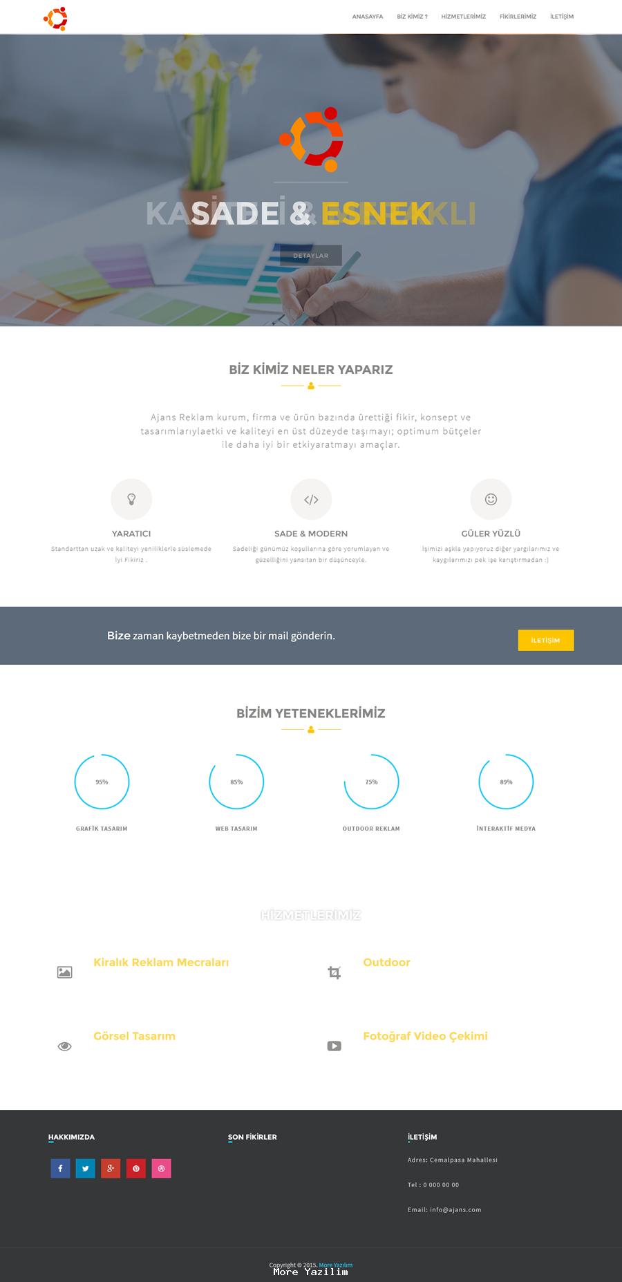 Hazır Ajans Kurumsal Web Sitesi Scripti